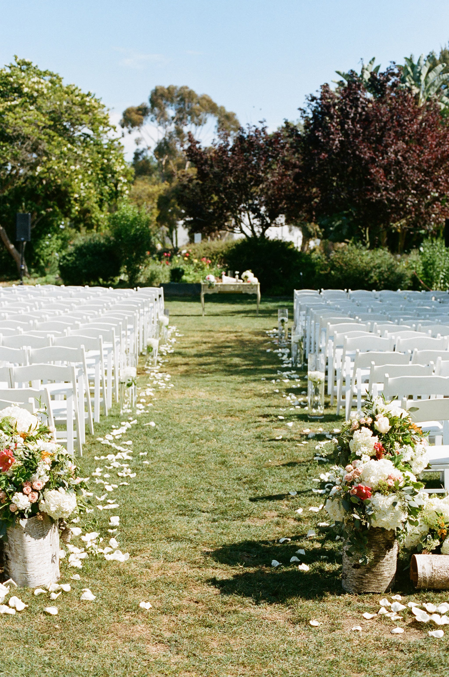 Elegant Outdoor Wedding Aisle Elizabeth Anne Designs