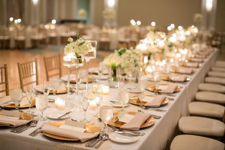 Gold Ivory Wedding Reception Elizabeth Anne Designs The