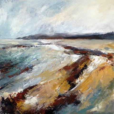 Semi-abstract seascape painting in oils by Elizabeth Baldin