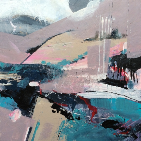 Contemporary abstract painting in mixed media by Elizabeth Baldin