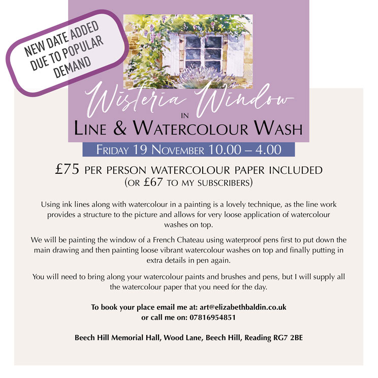 ink and watercolour workshop
