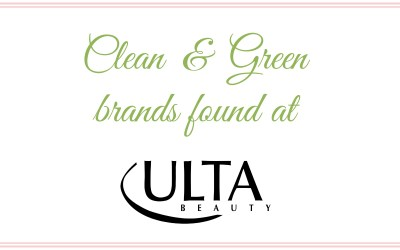 Clean & Green Brands Found at Ulta
