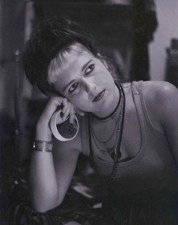 Elizabeth Montague with tape roll 1985