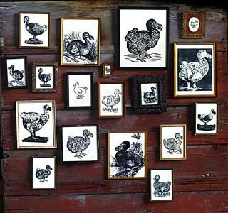 Dodo bird art installation assemblage.