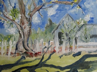 Painting a landscape canvas painting ideas elizabeth reoch for Simple oil painting ideas