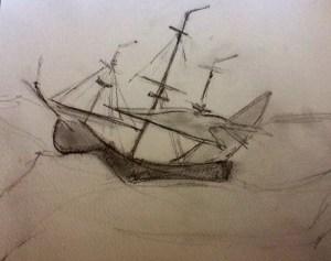 Sketch of Ship