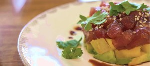 tuna tartare with mango and avocado