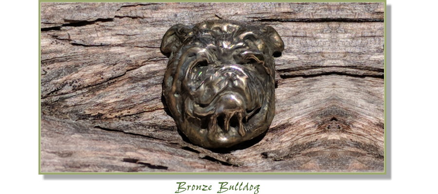 Bulldog jewelry from Elizabeth Trail Design