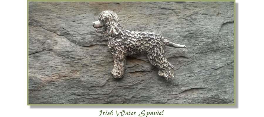Irish Water Spaniel jewelry from Elizabeth Trail Design