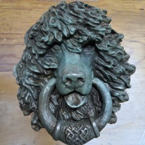 bronze irish water spaniel door knocker by Elizabeth Trail
