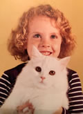 Young Elizabeth with cat (2)