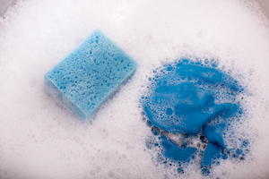 eliminate soap suds from dishwasher