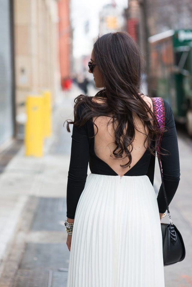 A Backless Dress And Beat Up Sneaks | thevillagevogue.com