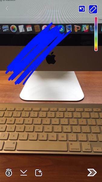 kleurvlak toevoegen snapchat