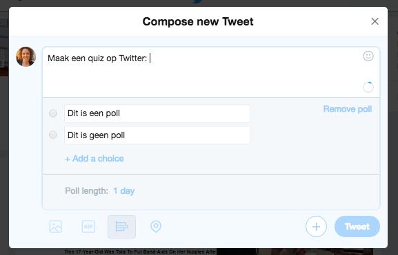 twitter poll quiz format