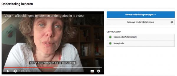 ondertiteling youtube bewerken