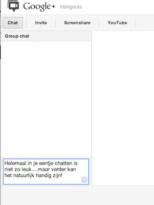 chatten in een google+ hangout voor bedrijven