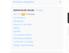 Promoted trend op twitter, 13-2-2012