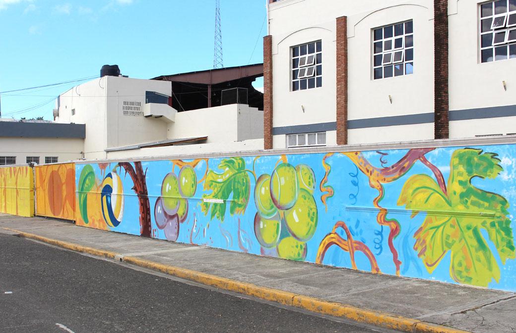 Murales deportivos adornan las paredes del complejo JPD.