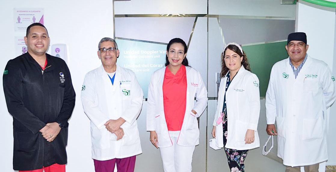 Doctores Eduard Ventura, Ramón Mena Rivas, Rosanna Reyes, Mariasela Morales y Raúl Lozano.