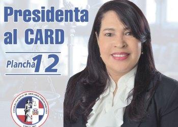 DIGNA MINYETTY, quien aspira a dirigir el Colegio de Abogados de la República Dominicana, ''por un Colegio al Servicio de todos''