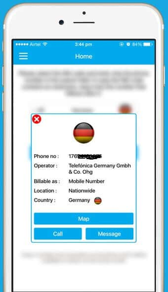 trace mobile number in germany