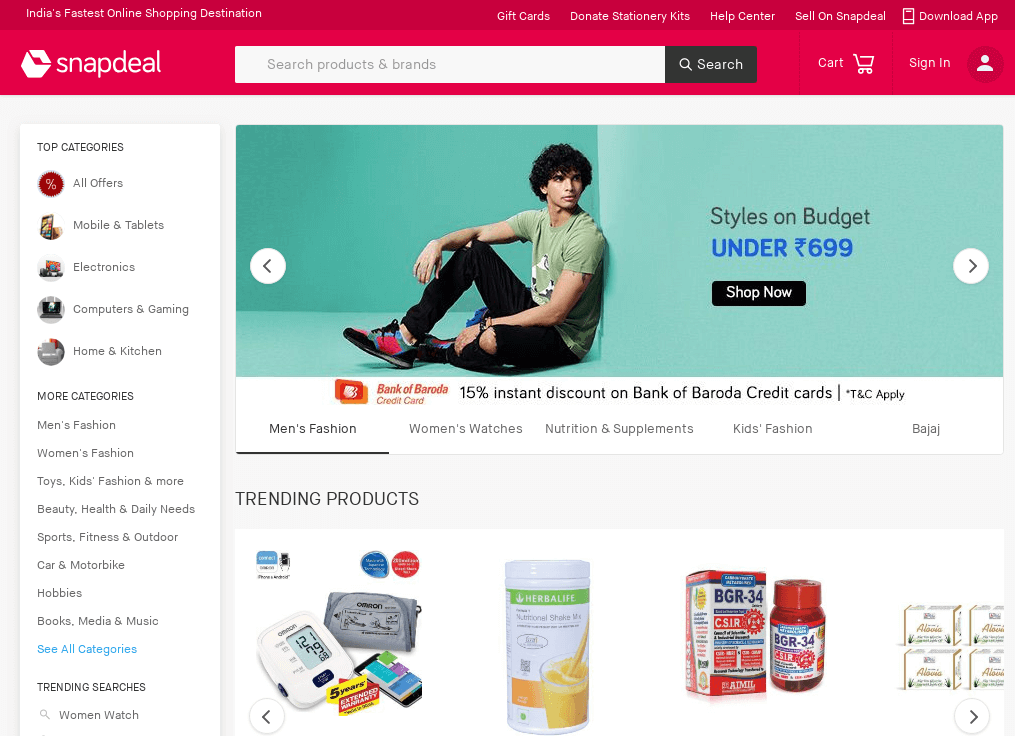 Snapdeal store