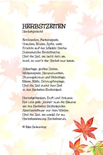 Herbstzeiten Elkes Kindergeschichten