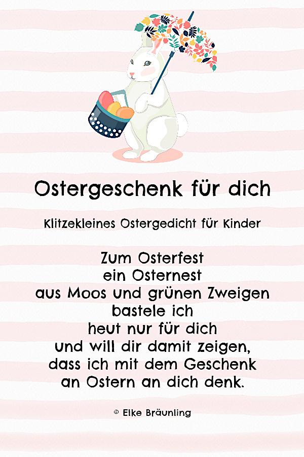 Ostergeschenk Für Dich Gedicht Elkes Kindergeschichten