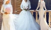 Tendance mariage : 21 des plus belles Robes de mariées avec hijab en photos 40