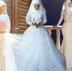 Tendance mariage : 21 des plus belles Robes de mariées avec hijab en photos 45