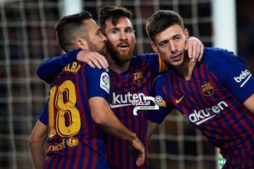ميسي ينقذ برشلونة من الهزيمة أمام فالنسيا 39
