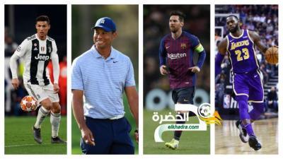 تعرف على قائمة الرياضيين الأكثر شهرة في العالم 36