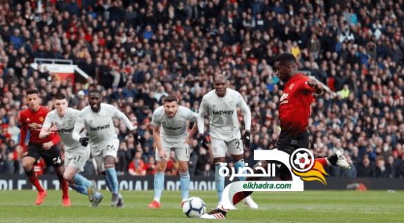 مانشستر يونايتد يفوز على ضيفه وست هام يونايتد بثنائية 24