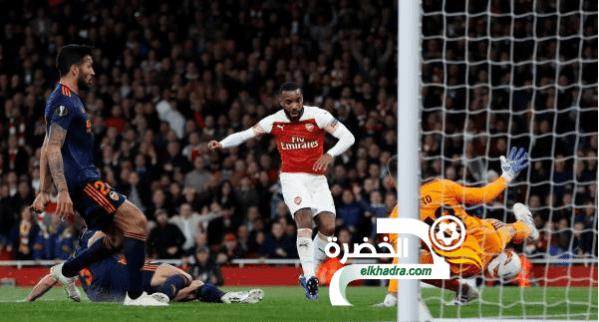 أرسنال يفوز بثلاثية أمام فالنسيا في ذهاب نصف نهائي الدوري الأوروبي 24