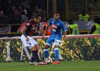 اول هدف لغلام مع نابولي في الموسم ضد بولونيا 33