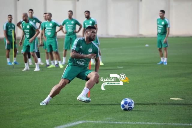 بالصور.. الخضر يواصلون تحضيراتهم للمباراة الودية أمام المنتخب البنيني 27
