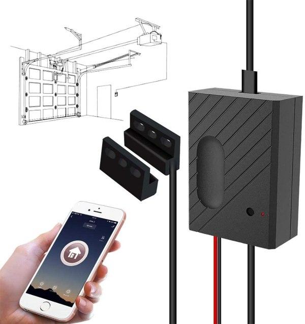 WiFi garasjeportåpner med støtte for Alexa/Siri/Google Home/IFTTT garasjeportåpner