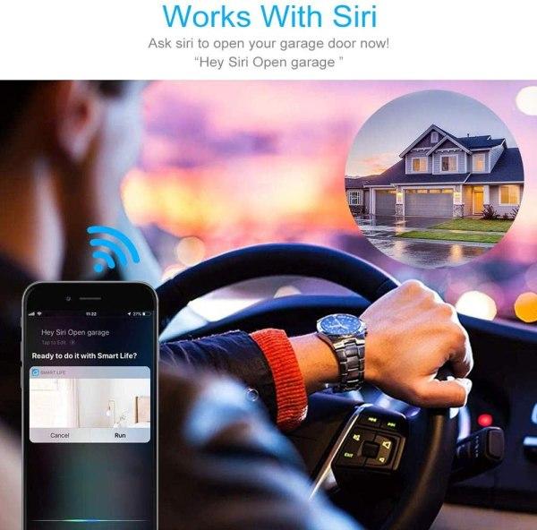 WiFi garasjeportåpner med støtte for Alexa/Siri/Google Home/IFTTT garasjeportåpner3