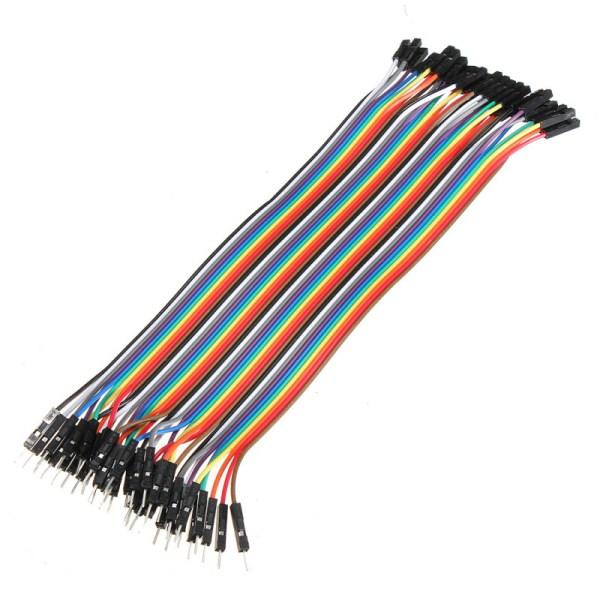 Jumper kabel 40 stk x 20 cm (flere variasjoner) passer blant annet til Arduino osv jumpercable