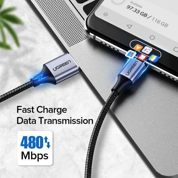 Ugreen USB til USB-C kabel 3A Fast Charge Cable 0,5m Ugreen USBc03