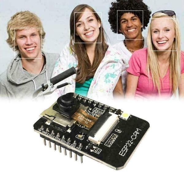 ESP32-CAM Overvåkningskamera ansiktsgjenkjenning - WIFI og Bluetooth Security camera - face recognition ESP32 CAM07