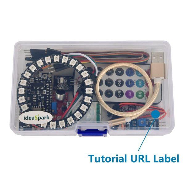 Arduino IDE starter kit med blant annet LED-ring, IR og andre sensorer - NodeMCU/ESP8266 KITled07