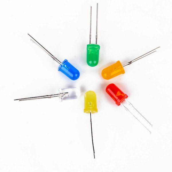 200 stk 5mm Lysdiode / Led light 10 forskjellige typer Leddiode5mm01