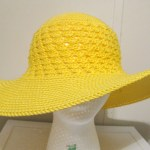 Enjoying a Few Moments of Crocheting a Summer Beach Hat