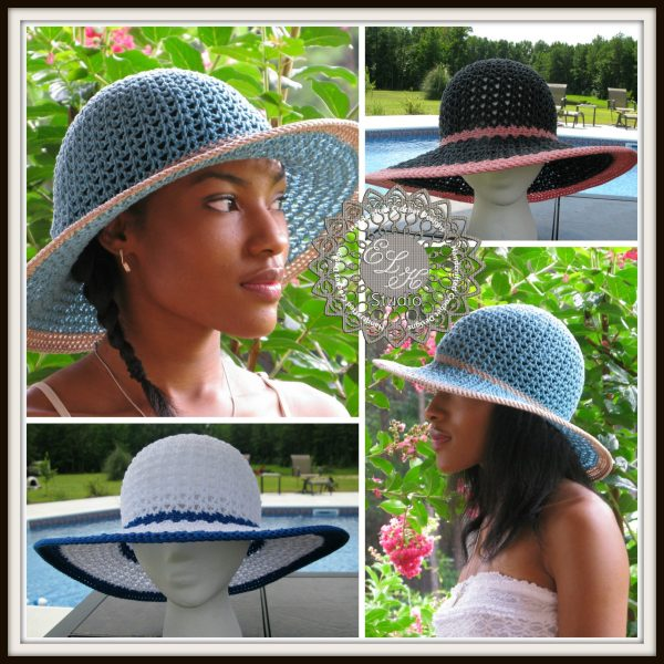 Southern Breeze Summer hat pattern by ELK Studio