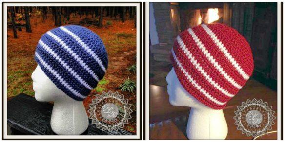 Hunter's Run free crochet beanie pattern by ELK Studio