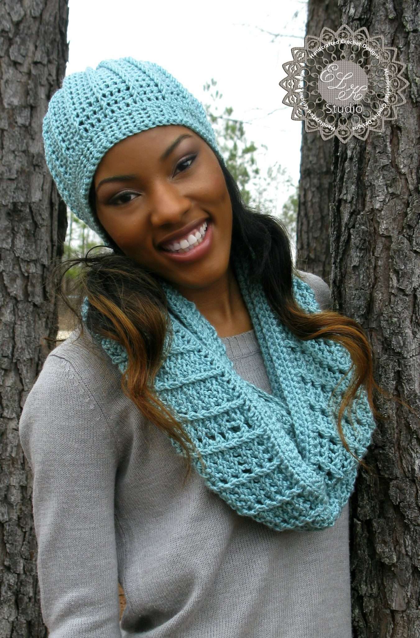 Country appeal a free crochet infinity scarf pattern elk beanie to match country appeal infinity scarf bankloansurffo Image collections