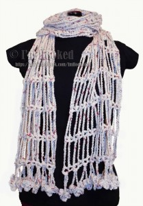 Crochet_Drop_Chain_Shawl_Scarf By I'm Hooked