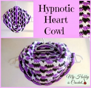 Hypnotic Heart Cowl by My Hobby is Crochet